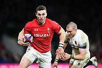 George North of Wales gets past Mike Brown of England. Natwest 6 Nations match between England and Wales on February 10, 2018 at Twickenham Stadium in London, England. Photo by: Patrick Khachfe / Onside Images