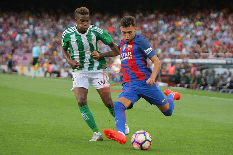 League Santander 2016/2017. Game: 1.<br /> FC Barcelona vs Real Betis: 6-2.<br /> Musonda vs Munir.