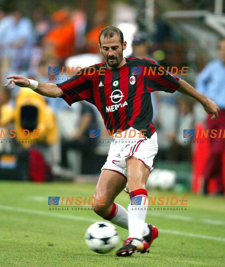 Milano 17/8/2003<br /> Trofeo Berlusconi<br /> Milan - Juventus 0-2<br /> Giuseppe Pancaro (Milan)<br /> Foto Andrea Staccioli Insidefoto