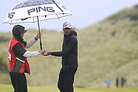Tony Finau (USA) on the 8th green during Sunday's Final Round of the 148th Open Championship, Royal Portrush Golf Club, Portrush, County Antrim, Northern Ireland. 21/07/2019.<br /> Picture Eoin Clarke / Golffile.ie<br /> <br /> All photo usage must carry mandatory copyright credit (© Golffile | Eoin Clarke)