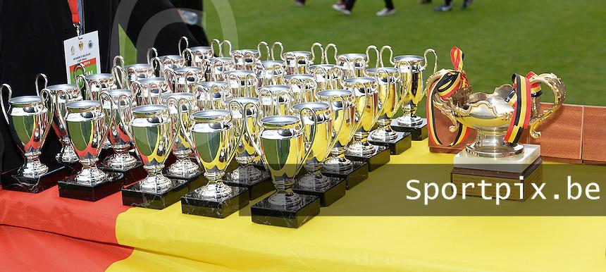 Finale Beker van Belgi&euml; : Standard - Club Brugge :<br /> <br /> de trofee<br /> <br /> foto Dirk Vuylsteke / Nikonpro.be