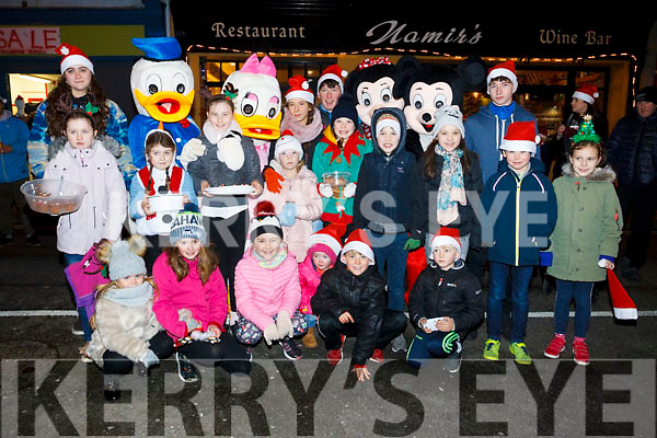 All excited as the wait for Santa to turn on the Lights in Ballybunion on Sunday evening last.