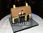 Kenneth McGuirk's 70th birthday cake, he is a regular in the Thatch. Photo:Colin Bell/pressphotos.ie