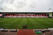 29th September 2017, Parc y Scarlets, Llanelli, Wales; Guinness Pro14 Rugby, Scarlets versus Connacht; General view from inside stadium on halfway