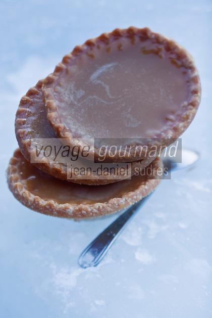 Amérique/Amérique du Nord/Canada/Québec/Mauricie/Saint-Alexis-des-Monts:  Tarte au sucre recette du restaurant de Hôtel Sacacomie au bord du lac  Sacacomie