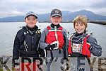 Patrick Bruen, Michael Crosbie, Luke Turvey. enjoying The Fenit Sailing School Munster optimist Competition on Saturday