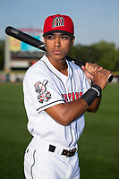 Billings Mustangs outfielder Miles Gordon (23) poses for a photo prior to the game against the Missoula Osprey at Dehler Park on August 21, 2017 in Billings, Montana.  The Osprey defeated the Mustangs 10-4.  (Brian Westerholt/Four Seam Images)