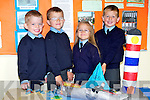JUNIOR INFANTS: The new pupils at Scoil Chrost Rí, Drumnacurra on Monday l-r: Zach Walshe, Paddy Diggins, Ella Diggins and Maurice O'Donoghue.