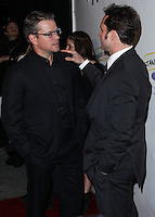 "WEST HOLLYWOOD, CA - NOVEMBER 13: Matt Damon, Jason Patric at the ""Stand Up For Gus"" Benefit held at Bootsy Bellows on November 13, 2013 in West Hollywood, California. (Photo by Xavier Collin/Celebrity Monitor)"