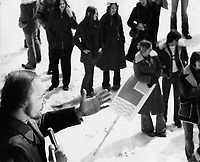 Undated file photo File photo. <br /> <br /> CEQ Union leader Yvon Charbonneau<br />  in the 1970's<br /> <br /> <br /> <br /> Photo : AQP - Alain Renaud