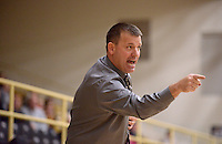 NWA Democrat-Gazette/BEN GOFF @NWABENGOFF<br /> Tom Halbmaier, Bentonville girls basketball coach, shouts direction on Thursday Dec. 17, 2015 during the game against Greenwood in Bentonville's Tiger Arena.