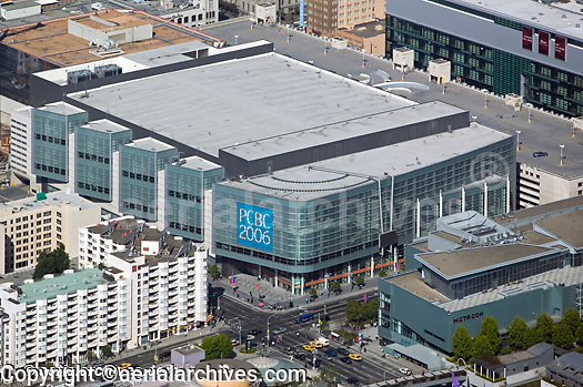 aerial photograph Moscone Convention Center west PCBC  2006 and Sony Metreon San Francisco