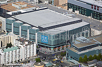 aerial photograph of the Moscone Convention Center west, PCBC 2006, and Sony Metreon, San Francisco, California, 2006