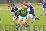 South Kerry's Denis Daly makes light work of a challenge from Kerins O Rahilly's Rory Molloy in the 1st Round of the County Championship at The Con Keating Park in Cahersiveen on Sunday.  South Kerry 1-14 Kerins O Rahilly's 1-7.