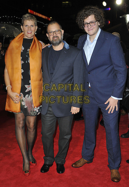 LONDON, ENGLAND - OCTOBER 12: Daniel Barber ( centre ) &amp; his family attend the &quot;The Keeping Room&quot; Official Competition screening, 58th LFF day 5, Odeon West End cinema, Leicester Square, on Sunday October 12, 2014 in London, England, UK. <br /> CAP/CAN<br /> &copy;Can Nguyen/Capital Pictures