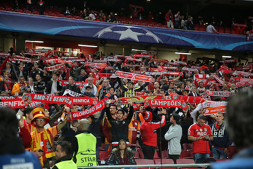 03.11.2015. Lisbon, Portugal.  UEFA Champions League Group C football match between Benfica and Galatasaray at Estadio da Luz Stadium in Lisbon, Porugal. Fans of Galatasaray.