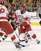 Chris Collins, Peter MacArthur - The Boston University Terriers defeated the Boston College Eagles 2-1 in overtime in the March 18, 2006 Hockey East Final at the TD Banknorth Garden in Boston, MA.