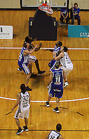 Paul Henare shoots a penalty during the NBL Basketball match between the Wellington Saints and Bay Hawks, TSB Bank Arena, Wellington, New Zealand on Saturday, 10 May 2008. Photo: Dave Lintott / lintottphoto.co.nz