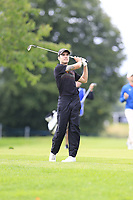 Ivan Cantero Gutierrez (ESP) plays his 2nd shot on the 15th hole during Sunday's Final Round of the Northern Ireland Open 2018 presented by Modest Golf held at Galgorm Castle Golf Club, Ballymena, Northern Ireland. 19th August 2018.<br /> Picture: Eoin Clarke | Golffile<br /> <br /> <br /> All photos usage must carry mandatory copyright credit (&copy; Golffile | Eoin Clarke)