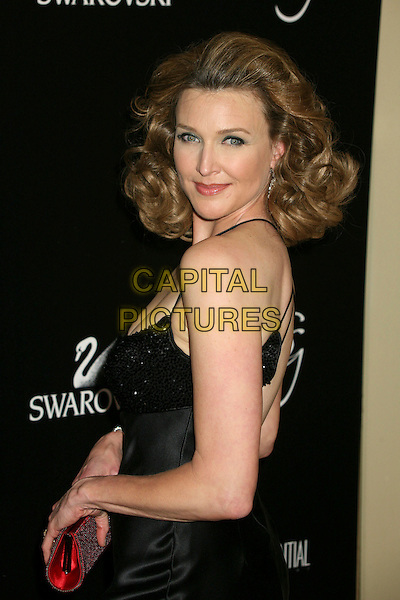 BRENDA STRONG .9th Annual Costume Designers Guild Awards Gala at the Regent Beverly Wilshire Hotel, Beverly Hills, California, USA,17 February 2007..half length looking back over shoulder black dress.CAP/ADM/BP.©Byron Purvis/AdMedia/Capital Pictures.