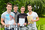 St Brendan's College lads Fionan O'donoghue, Philip O'Donoghue both glenflesk, Michael O'Keeffe Killarney and Conor Teahan Kilcummin were delighted and relieved after receiving their Leaving Cert results on Wednesday morning