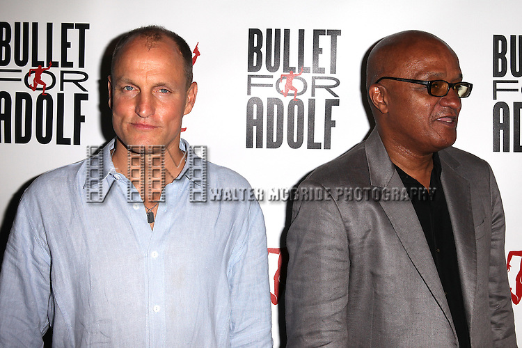 Writer / Director Woody Harrelson & Co-Writer Frankie Hyman attending the Opening Night Performance of 'Bullet For Adolf' at the New World Stages in New York City on 8/8/2012 *   © Walter McBride / WM Photography