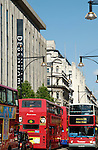 Red double decker buses in Oxford Street, London, England