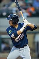 Alex Kirilloff (30) of the Elizabethton Twins at bat against the Pulaski Yankees at Calfee Park on July 25, 2016 in Pulaski, Virginia.  The Twins defeated the Yankees 6-1.  (Brian Westerholt/Four Seam Images)
