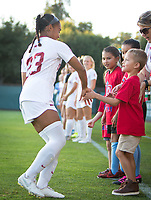 STANFORD, CA - August 30, 2019: Kiki Pickett at Maloney Field at Laird Q. Cagan Stadium. The Cardinal defeated the University of Pennsylvania Quakers 5-1.