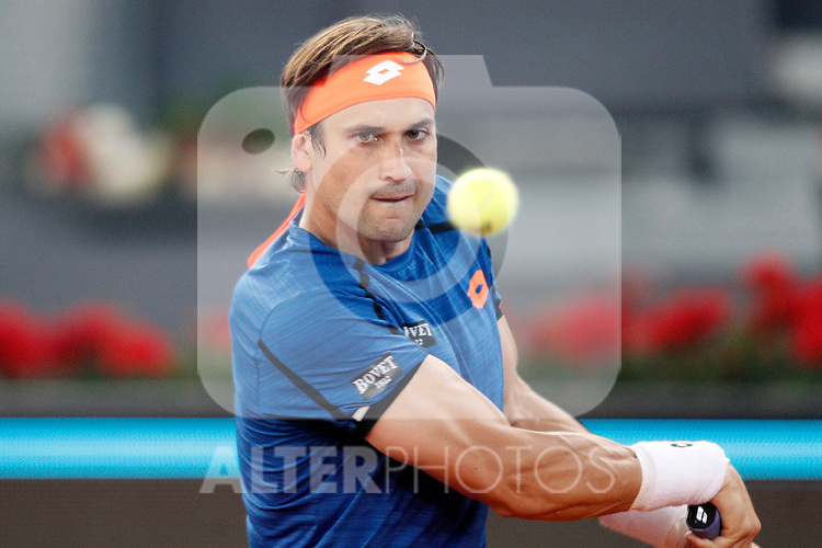 David Ferrer, Spain, during Madrid Open Tennis 2016 match.May, 2, 2016.(ALTERPHOTOS/Acero)