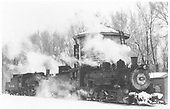 K-37 #492 taking water with K-36 #488 coupled behind.<br /> D&amp;RGW  Chama, NM