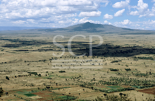 Narok, Kenya. Overview of the Great Rift Valley with open plains and encroaching small-scale agriculture.