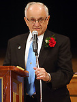 TORRINGTON CT. 12 October 2017-101217SV04-Italian Mayor of the Day Joseph Raymond Barbieri  thanks everyone for their kindness and for making him mayor of the day during The Columbus Day Celebration in Torrington Thursday.<br /> Steven Valenti Republican-American
