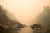 USA, Oregon, Wild and Scenic Rogue River in the Medford District, river scenic near Battle Bar