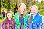 Aine O'Sullivan, Mairead Joy and Olivia O'Donoghue at the blessing of the new boats and pier at Muckross Rowing club on Sunday..