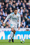 Raphael Varane of Real Madrid in action during the La Liga 2017-18 match between Real Madrid and Deportivo Alaves at Santiago Bernabeu Stadium on February 24 2018 in Madrid, Spain. Photo by Diego Souto / Power Sport Images