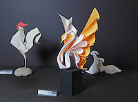 OrigamiUSA Convention 2015 Exhibition. Dancing Swan model designed and folded by special guest Quyet Hoang Tien, Vietnam.