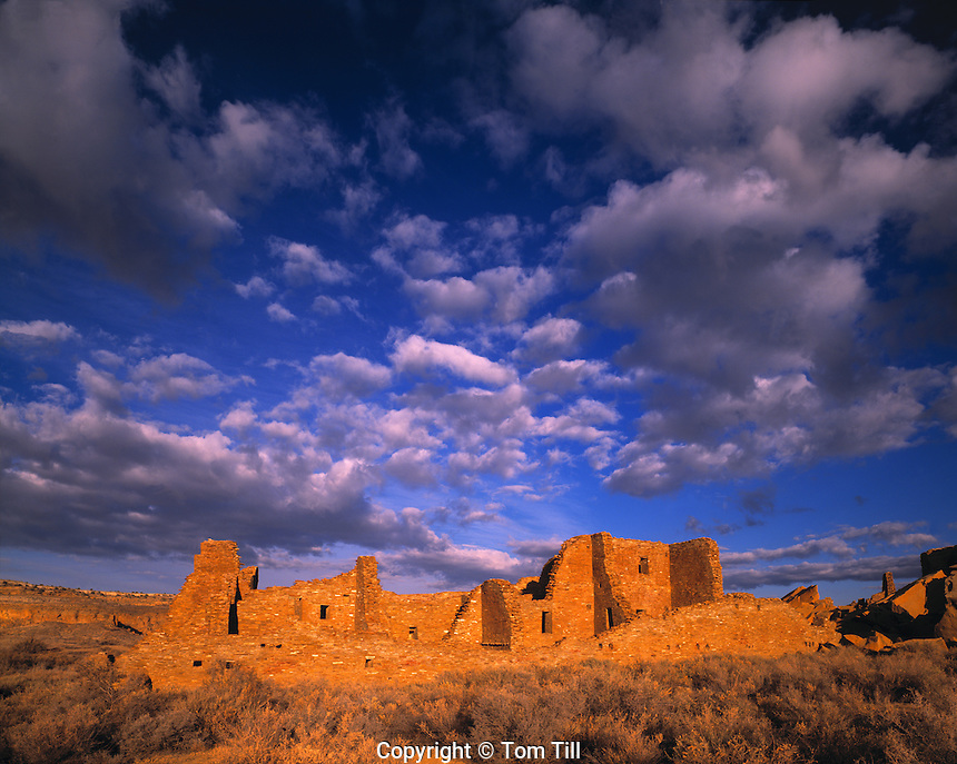 Morning Clouds, Pueblo Bonito, Chaco Culture National Historic Park, New Mexico