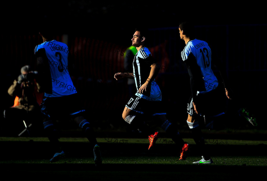 Fudbal Jelen Super League season 2015-2016<br /> Spartak v Partizan<br /> Andrija Zivkovic (C) celebrates the goal<br /> Subotica, 29.11.2015.<br /> foto: Srdjan Stevanovic/Starsportphoto&copy;