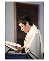 Montreal (Qc) CANADA -  2007 Model Released Photo -<br /> <br /> A young jewis boy on his Bar Mitzvah day at the synagogue,<br /> <br /> <br /> photo : Roussel - Images Distribution