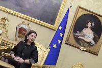 La Presidente della Camera Laura Boldrini, incontra Anne Brasseur, Presidente dell'Assemblea Parlamentare del Consiglio d'Europa.<br /> Laura Boldrini nello studio del Presidente