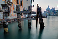 Morning breaks over Santa Maria della Salute and the Grand Canal, Venice, Italy