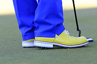 Scott Hend (AUS) fancy footwear during Thursday's Round 1 of the 2018 Turkish Airlines Open hosted by Regnum Carya Golf &amp; Spa Resort, Antalya, Turkey. 1st November 2018.<br /> Picture: Eoin Clarke | Golffile<br /> <br /> <br /> All photos usage must carry mandatory copyright credit (&copy; Golffile | Eoin Clarke)