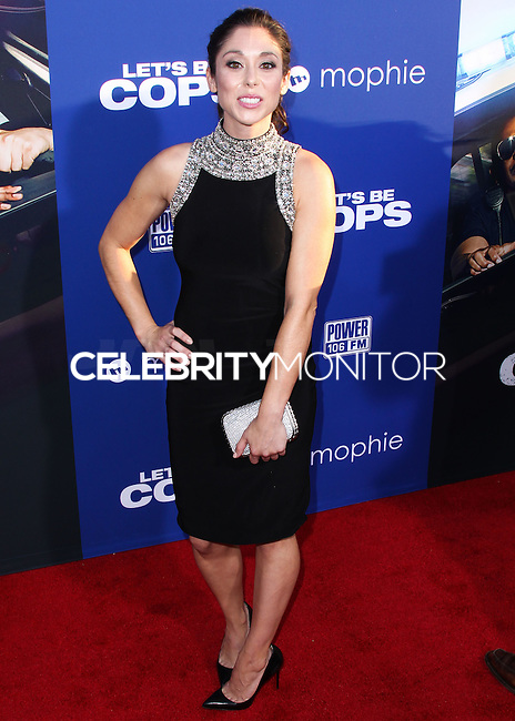 "HOLLYWOOD, LOS ANGELES, CA, USA - AUGUST 07: Jessica Luza at the Los Angeles Premiere Of 20th Century Fox's ""Let's Be Cops"" held at ArcLight Cinemas Cinerama Dome on August 7, 2014 in Hollywood, Los Angeles, California, United States. (Photo by Xavier Collin/Celebrity Monitor)"