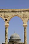 Israel, Jerusalem, the Dome of the Chain at Haram esh Sharif
