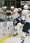 3 December 2011: University of Vermont Catamount defenseman Blake Doerring, a Freshman from Chanhassen, MN, in first period action against the University of Maine Black Bears at Gutterson Fieldhouse in Burlington, Vermont. The Catamounts fell to the Black Bears 5-2 in the second game of their 2-game Hockey East weekend series. Mandatory Credit: Ed Wolfstein Photo