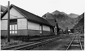 Telluride depot from the southwest.<br /> RGS  Telluride, CO  Taken by Richardson, Robert W. - 7/26/1950