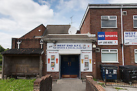 STORY BY STEVEN MORRIS SWANSEA, UK. 5th July 2015. Exterior shot of West End A.F.C. Sports & Social Club in Mayhill, the area of Swansea that Wales manager Chris Coleman comes from.