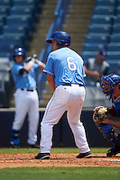 Buddy Kennedy (6) of Millville High School in Millville, New Jersey playing for the Kansas City Royals scout team during the East Coast Pro Showcase on August 3, 2016 at George M. Steinbrenner Field in Tampa, Florida.  (Mike Janes/Four Seam Images)