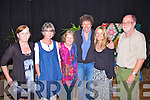 Enjoying a little relaxing time after the show 'Celebrating the Sun', were l-r; Angela O'Sullivan(Tech Amergin), Fi?ana de Buis(Event Organiser), Ma?ire Breatnach(Musician), Stephen Rae(Actor), Gerda Stevenson(Singer & Poet) & Paddy Bushe(Event Organiser)